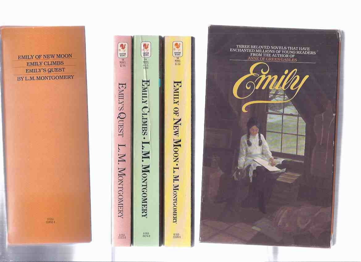 Image for L M Montgomery / The Emily Trilogy:  Emily of New Moon ---with Emily Climbs ---with Emily's Quest -Book 1, 2, 3 --THREE Volumes in a slipcase, ---by the Author of Anne of Green Gables  ( Slipcased Trilogy / Boxed - Box Set )