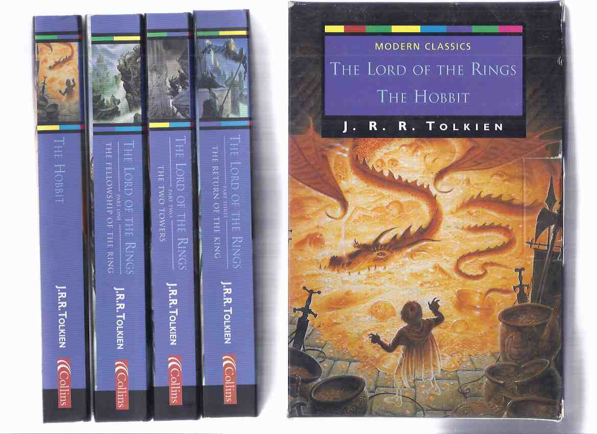 Image for J R R TOLKIEN: The Hobbit or There & Back Again --with The Lord of the Rings: Fellowship of the Ring; Two Towers; Return of the King -book 1, 2, 3 ( 4 vol. total) ( Slipcased / Boxed Edition ) ( Four Volumes )