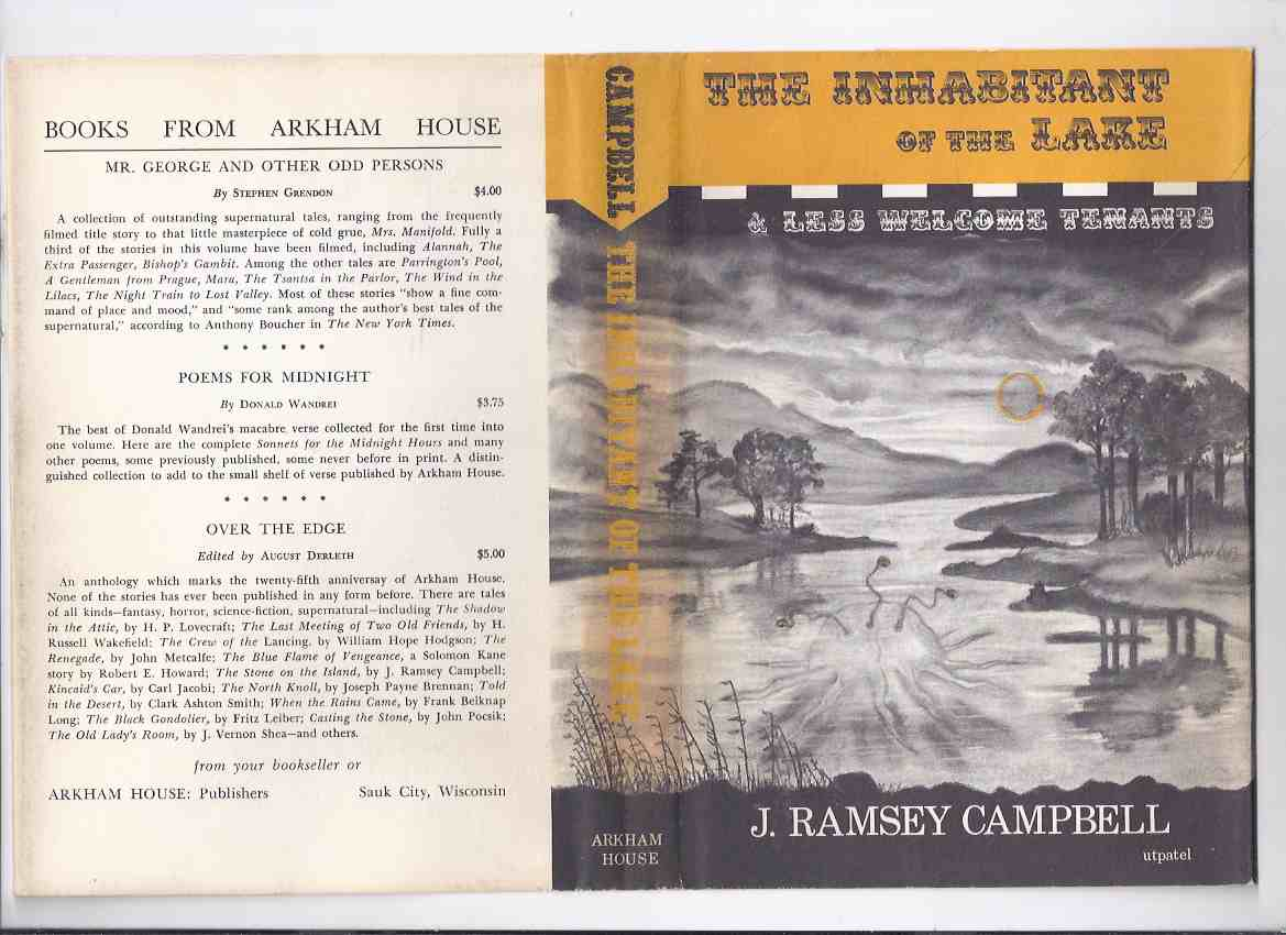 Image for The Inhabitant of the Lake ---by J Ramsey Campbell  ( Arkham House Edition )( Room in the Castle; The Mine on Yuggoth; Return of the Witch; Insects from Shaggai; etc)( Author's 1st Book )