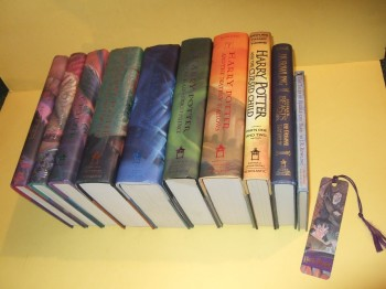 Image for TEN VOLUMES: Harry Potter Sorcerer's Stone (AKA Philosopher's ); Chamber Secrets; Prisoner Azkaban; Goblet Fire; Order Phoenix; Half Blood Prince; Deathly Hallows -book 1, 2, 3, 4, 5, 6, 7 & The Cursed Child Play, ,  Fantastic Beasts, Tales of Beedle Bard