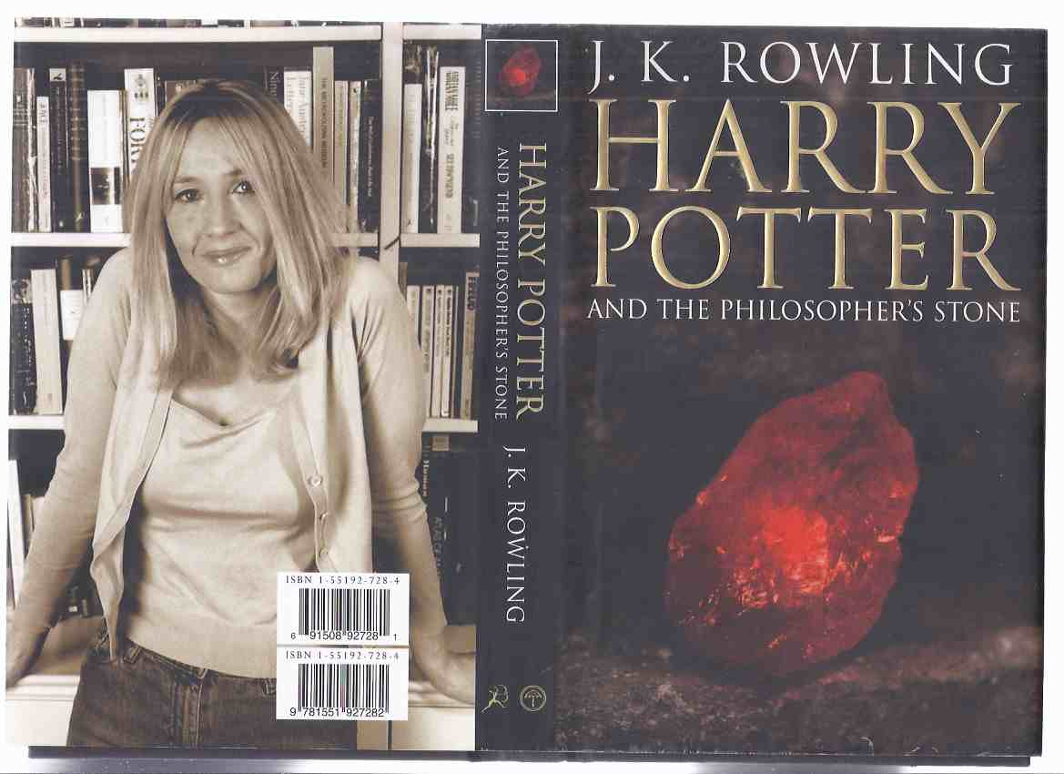 Image for Harry Potter and the Philosopher's Stone ( AKA: Sorcerer's Stone ) --book 1 of the Series -by J K Rowling ( Volume One )( Adult Cover Version )