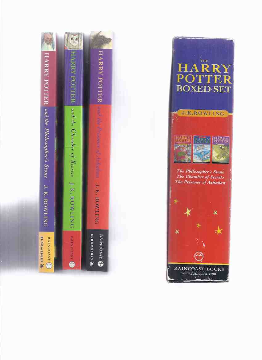 Image for THREE VOLUME Boxed set:  Harry Potter & the Philosopher's (aka Sorcerer's ) Stone; -the Chamber of Secrets; -the Prisoner of Azkaban -THREE Books in a Slipcase ( Box / Boxed / Slipcased Set )( Vol. 1, 2, 3 )