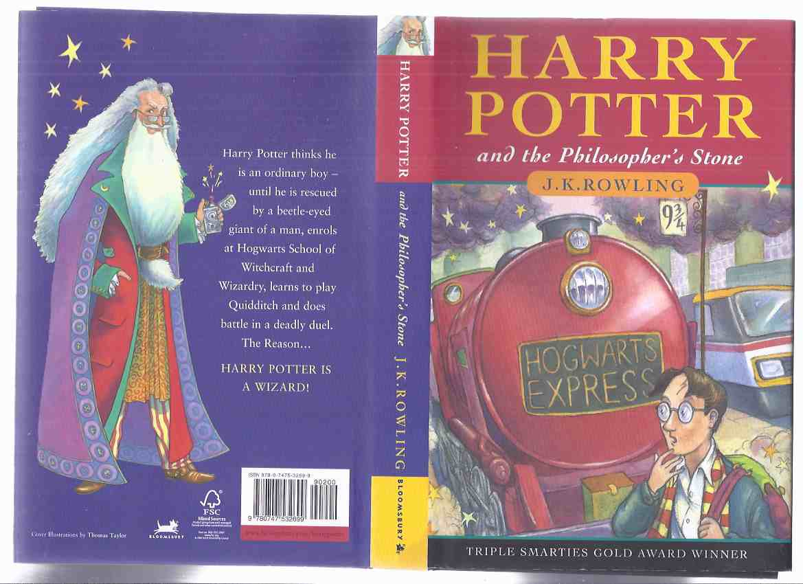 Image for Harry Potter and the Philosopher's Stone ( AKA: Sorcerer's Stone ) --book 1 of the Series -by J K Rowling ( Volume One )