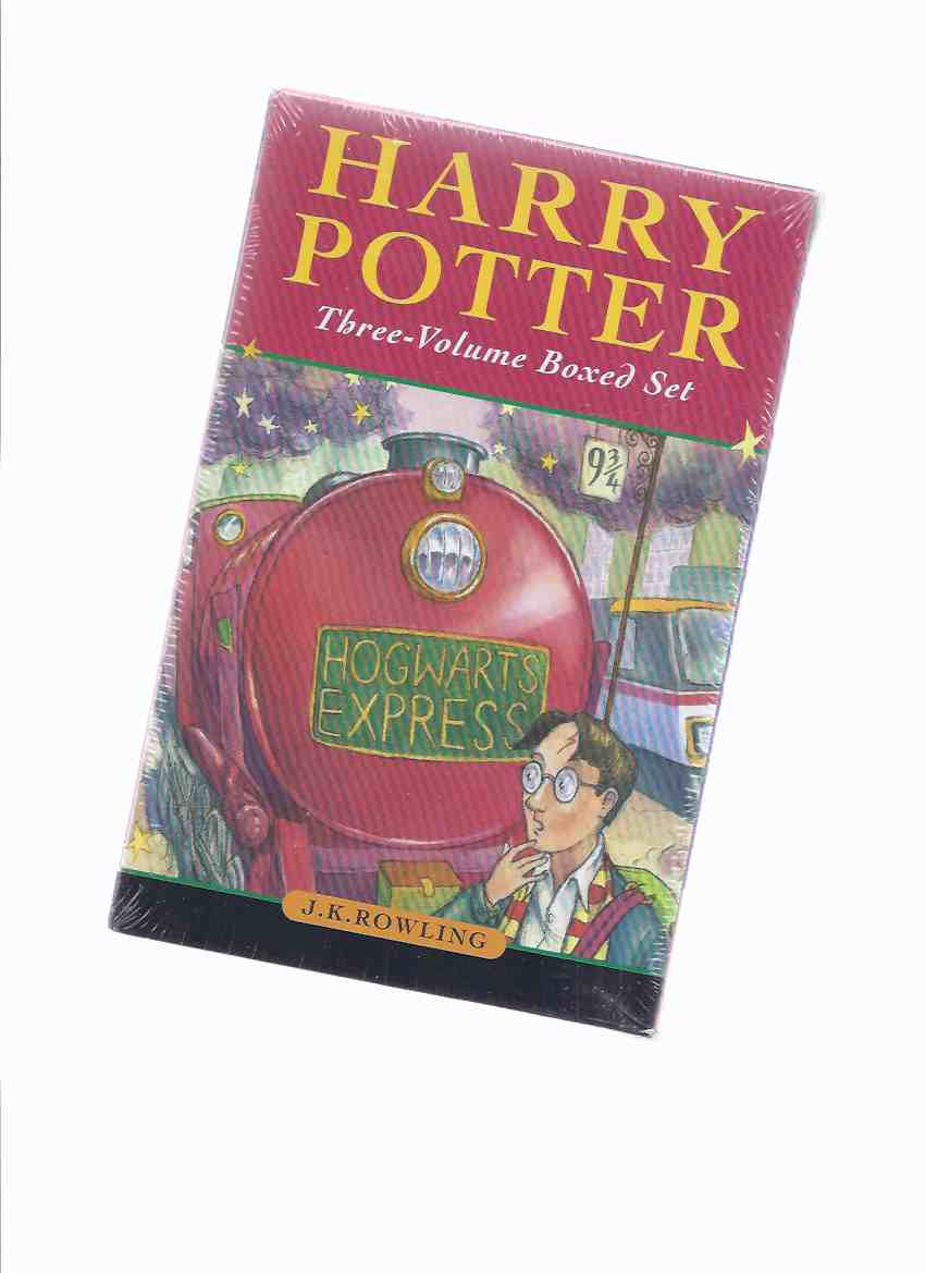 Image for THREE VOLUME Boxed set:  Harry Potter & the Philosopher's (aka Sorcerer's ) Stone; -the Chamber of Secrets; -the Prisoner of Azkaban -THREE Books in a Slipcase ( Box / Boxed / Slipcased Set )( Vol. 1, 2, 3 )(still in Shrinkwrap - UNOPENED )