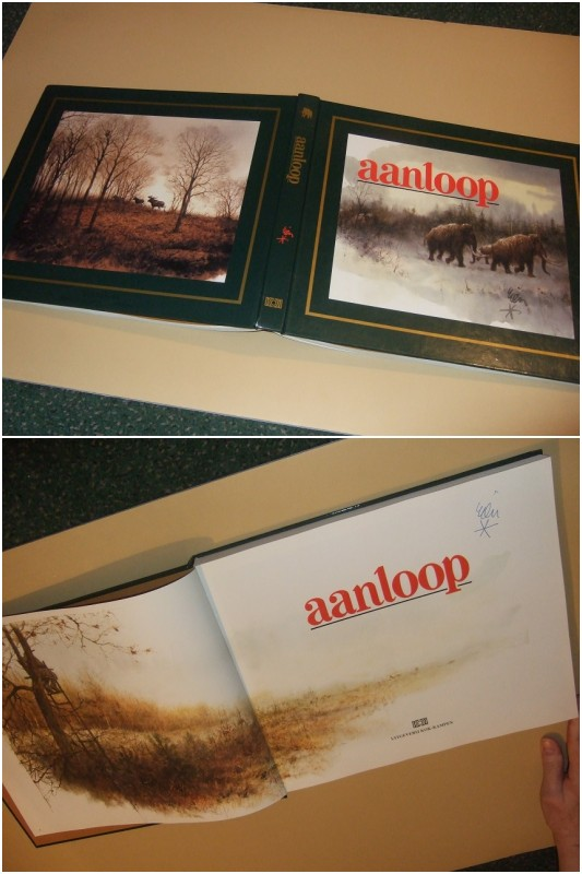 Image for Aanloop -by Rien Poortvliet -a Signed Copy ( Dutch Edition of:  Journey to the Ice Age: Mammoths and Other Animals of the Wild )( a journey through time with Rien Poortvliet )