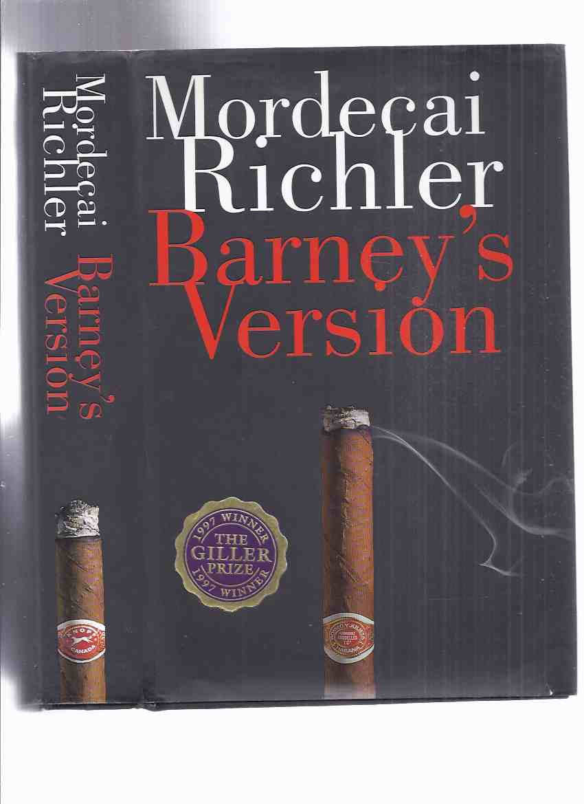 Image for Barney's Version ---by Mordecai Richler -a Signed Copy