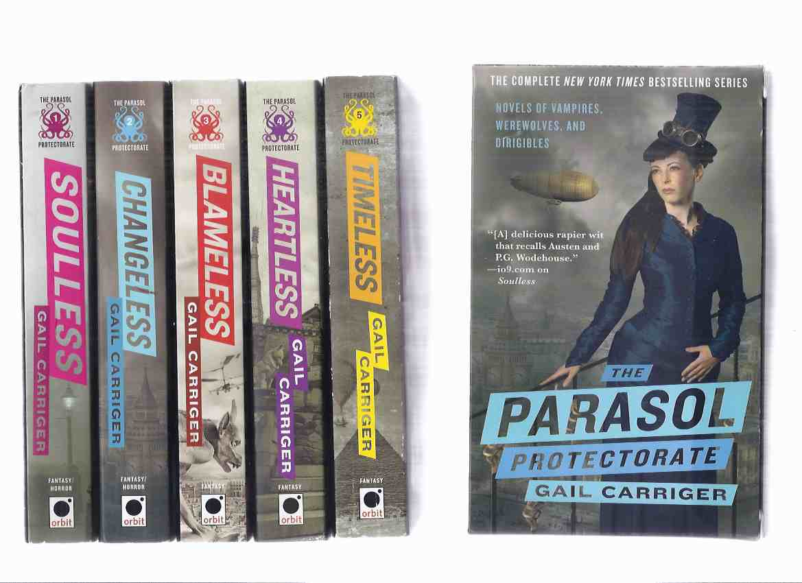 Image for FIVE Volumes in a Slipcase / Box: The Parasol Protectorate ( Soulless; Changeless; Blameless; Heartless; Timeless -Books 1, 2, 3, 4, 5 ) -by Gail Carriger ( Alexia Tarabotti Series )( Slipcased / boxed Set )