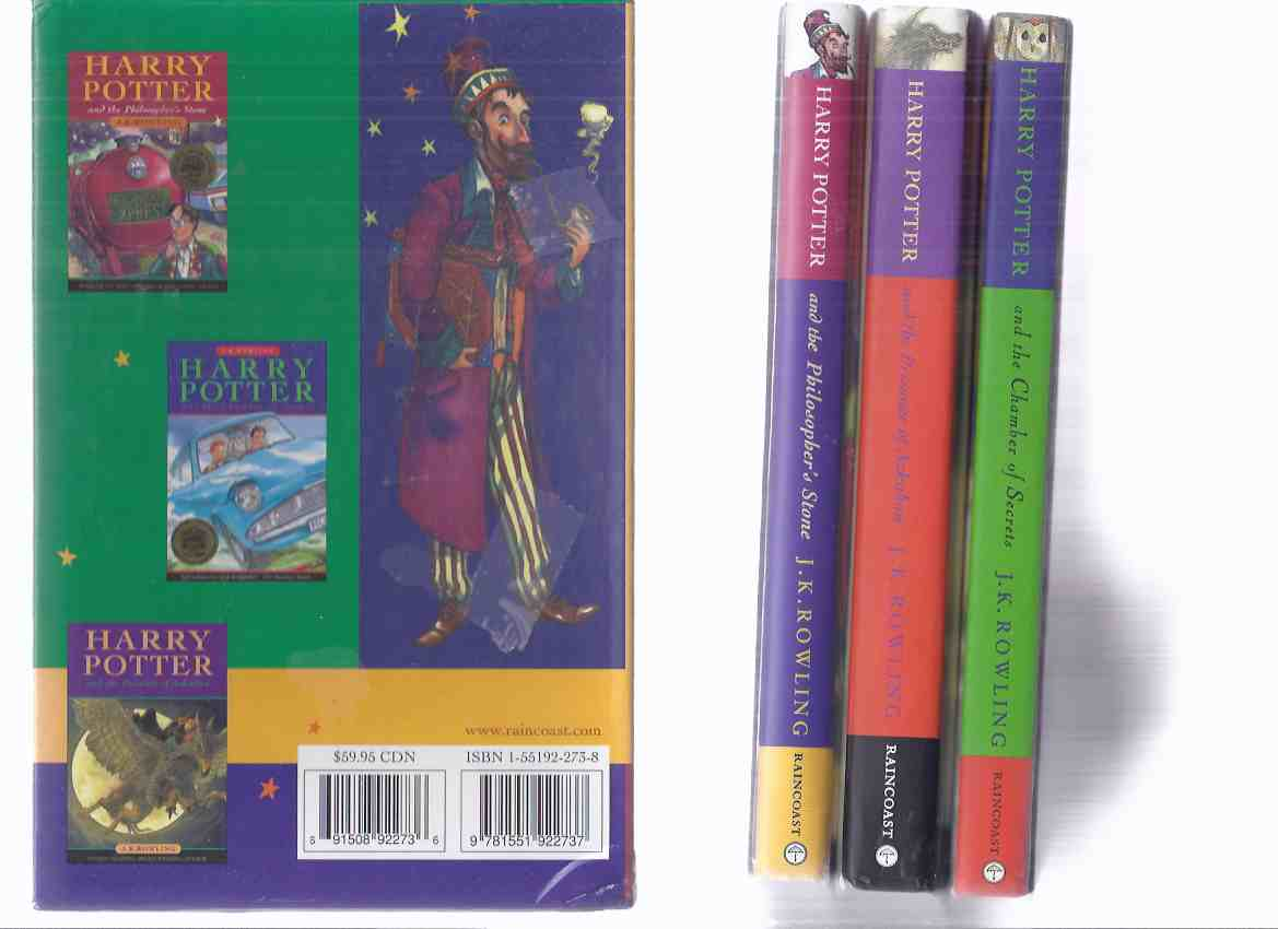Image for THREE BOOKS: Harry Potter:  Harry Potter and the Philosopher's Stone ---with -and the Chamber of Secrets ---with -and the Prisoner of Azkaban ---Volumes 1, 2, 3 in a Slipcase ( Box / Boxed / Slipcased Set ) ( Aka Sorcerer's Stone )