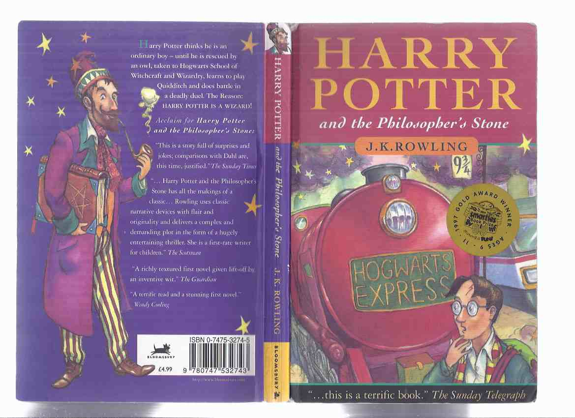 Image for Harry Potter and the Philosopher's Stone, Book 1 of the Series ---by J K Rowling  ( Volume One )