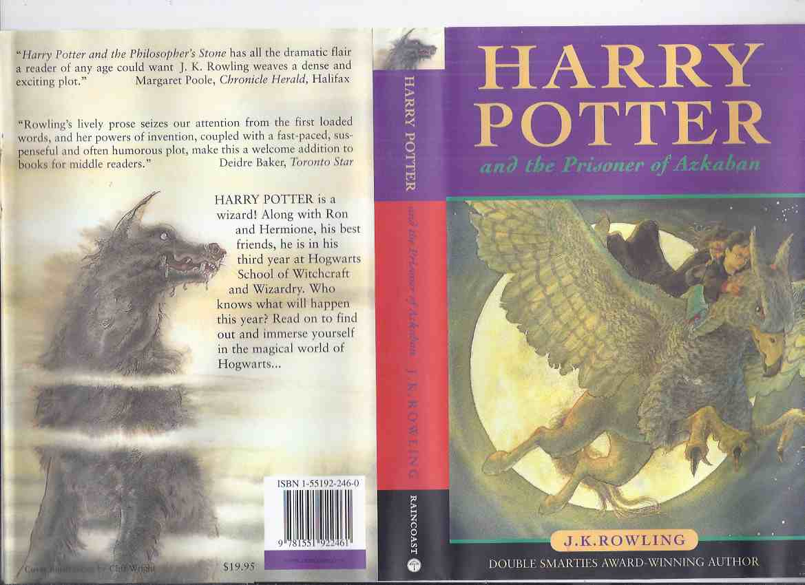 Image for Harry Potter and the Prisoner of Azkaban ---book 3 of the Harry Potter Series -by J K Rowling ( Volume Three / iii  )