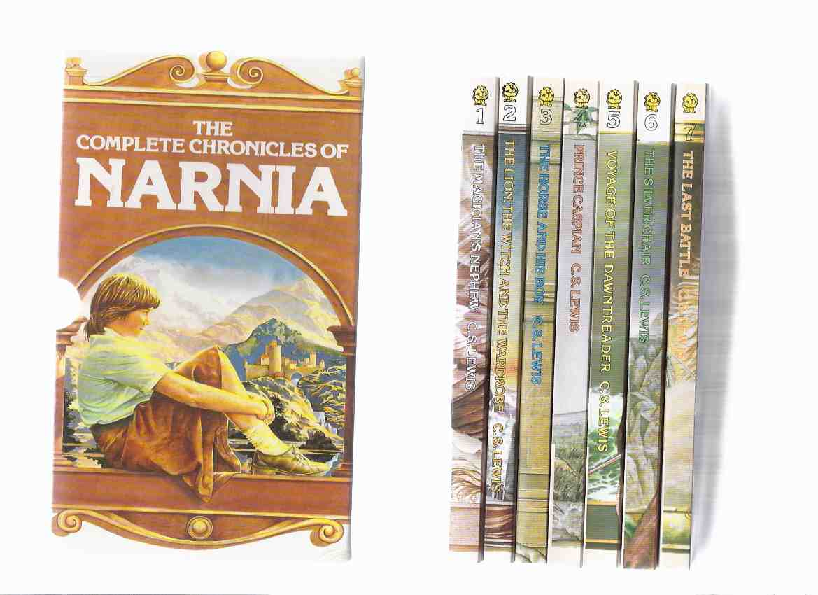 Image for 7 Volumes in a Slipcase /Box: Narnia Chronicles: The Lion The Witch and the Wardrobe ---with Prince Caspian ---with Voyage of the Dawn Treader ---with Silver Chair ---with The Horse & His Boy ---with Magician's Nephew ..---the Last Battle;  ( Boxed  Set )