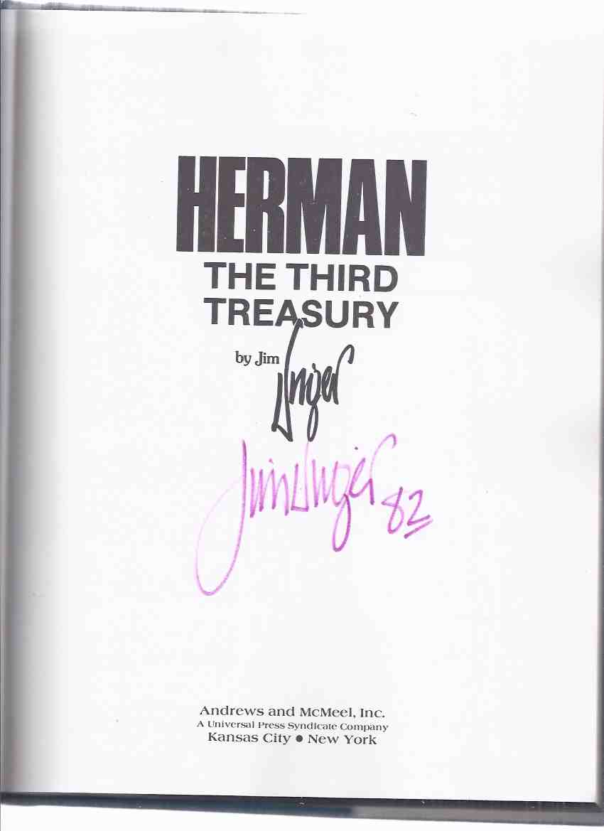 Image for Herman: The Third Treasury -by Jim Unger -a Signed Copy ( 3rd Collection of Herman Cartoons )