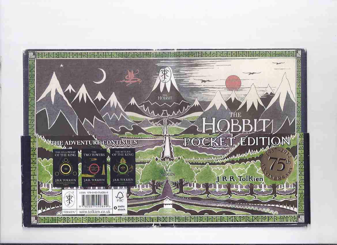 Image for THE POCKET EDITION of The Hobbit, or, There and Back Again -by J R R Tolkien -THE 1st 75th Anniversary Edition 1937 - 2012 (with Publisher's Wraparound Advertising Band )