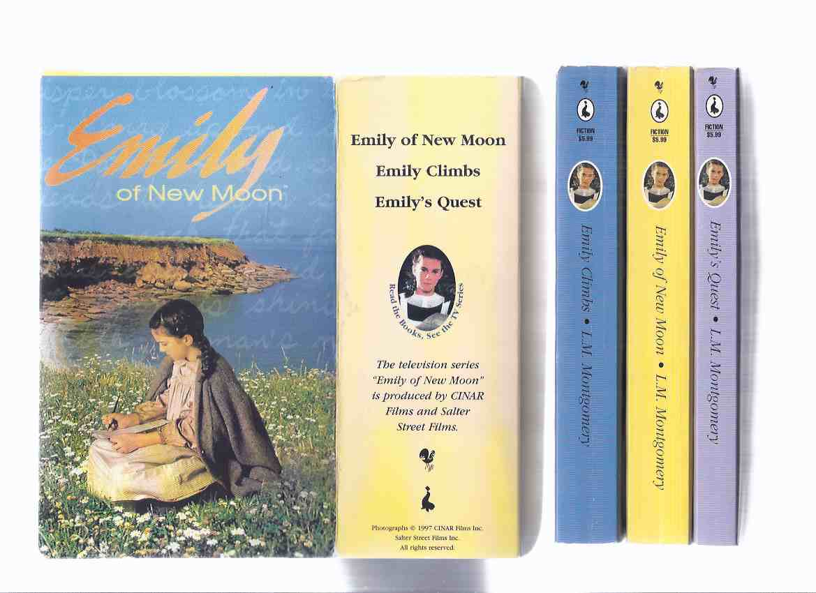 Image for L M Montgomery / The Emily Trilogy:  Emily of New Moon ---with Emily Climbs ---with Emily's Quest -Book 1, 2, 3 --THREE Volumes in a slipcase, ---by the Author of Anne of Green Gables  ( Slipcased Trilogy / Boxed - Box Set / TV Tie-in Issue  )