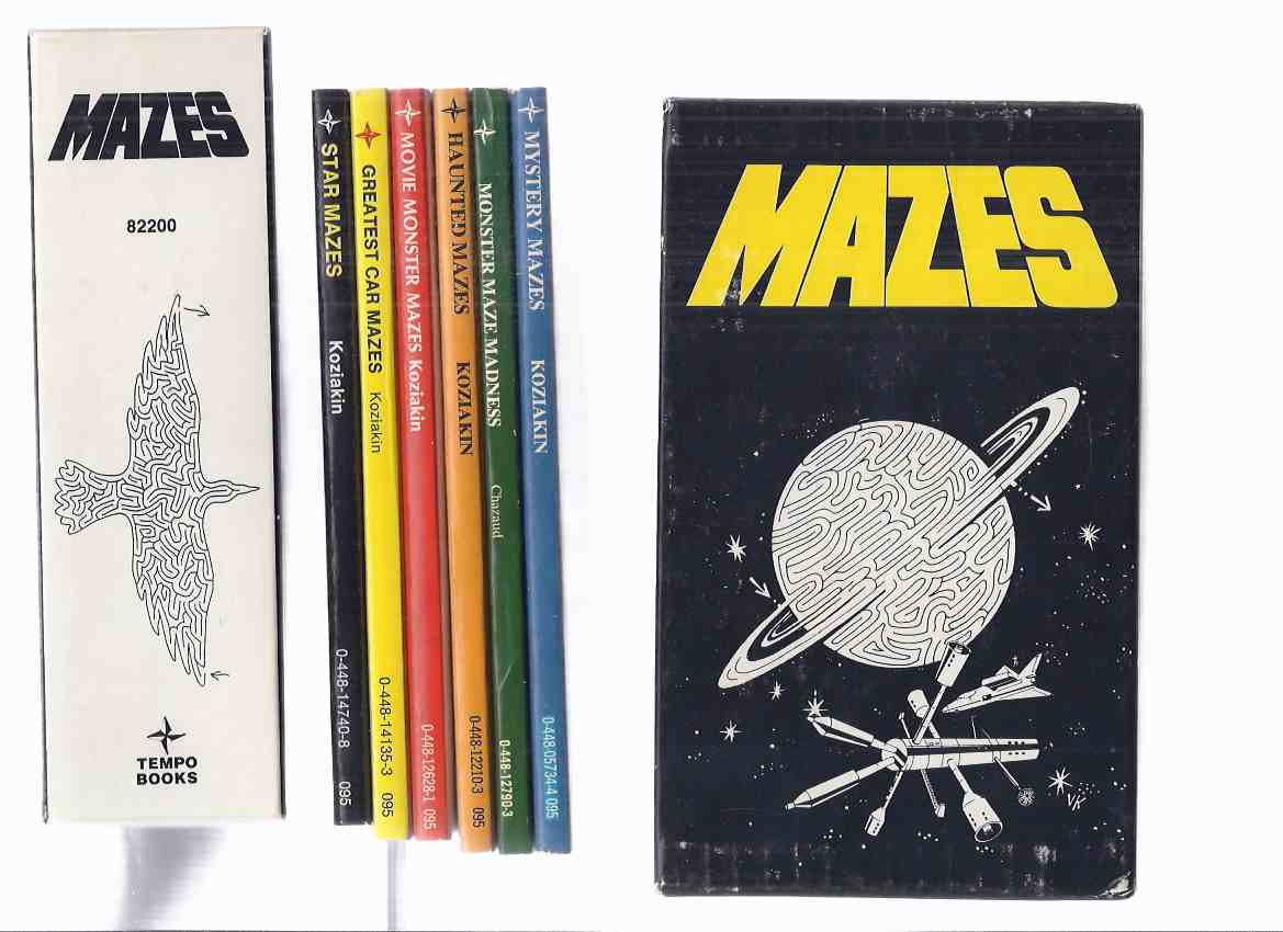 Image for 6 Volumes in a Slipcase / Box:  Mazes - Mystery Mazes; Monster Maze Madness; Haunted Mazes; Movie Monster Mazes; Greatest Car Mazes; Star Mazes ( Slipcased / Boxed Set -all NEAR FINE )