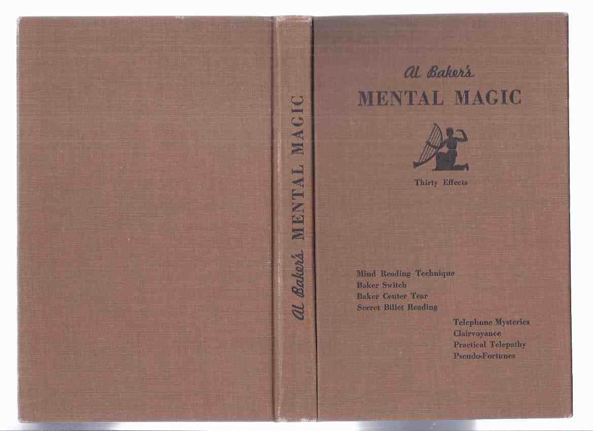 Image for Al Baker's Mental Magic, Thirty Effects  -by al Baker -All of Al Baker's Effects, Routines and Patter ( Mentalism / Mentalist / Mind Reading / Magician )( 30 )