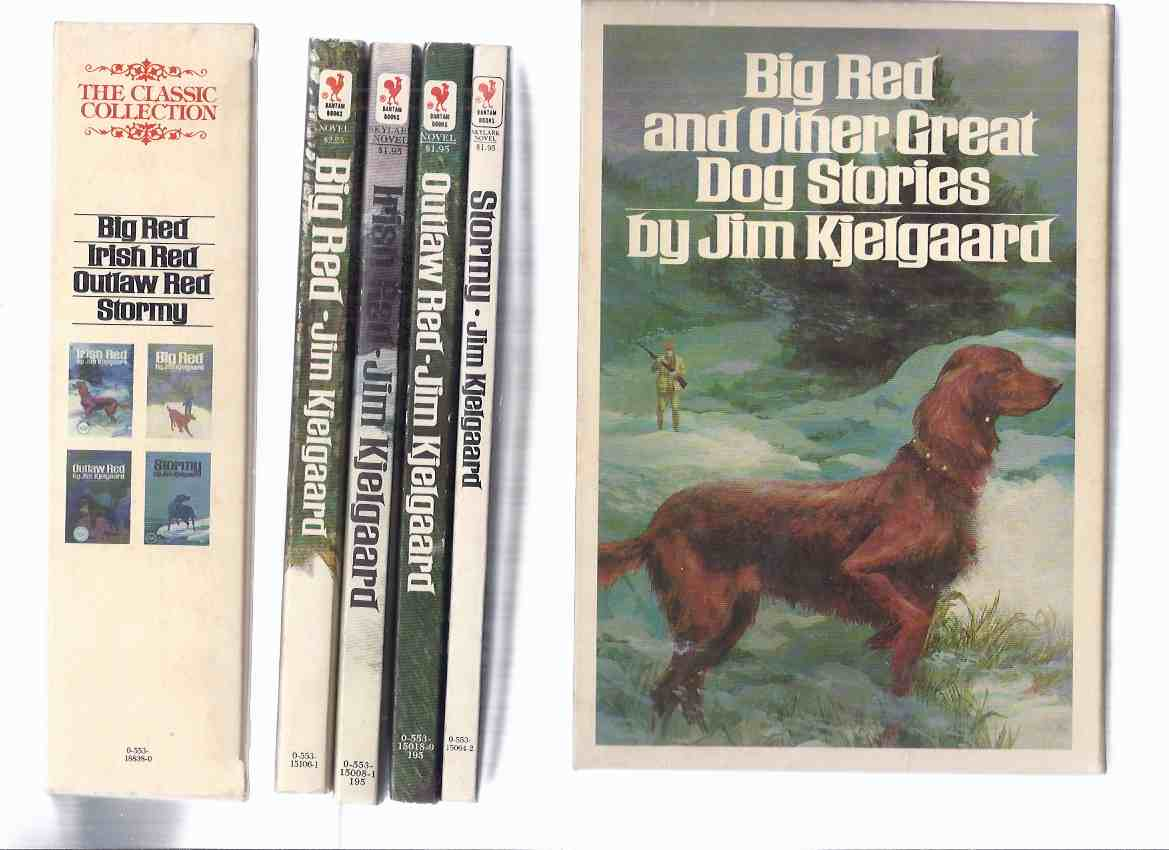 Image for 4 Volumes: BIG RED and Other Great Dog Stories -by Jim Kjelgaard ( slipcased Set - contains:  Big Red; Irish Red, Outlaw Red [ Books 1, 2 and 3 of the Trilogy ] and Stormy - in a Slipcase )( Box / Boxed Set )