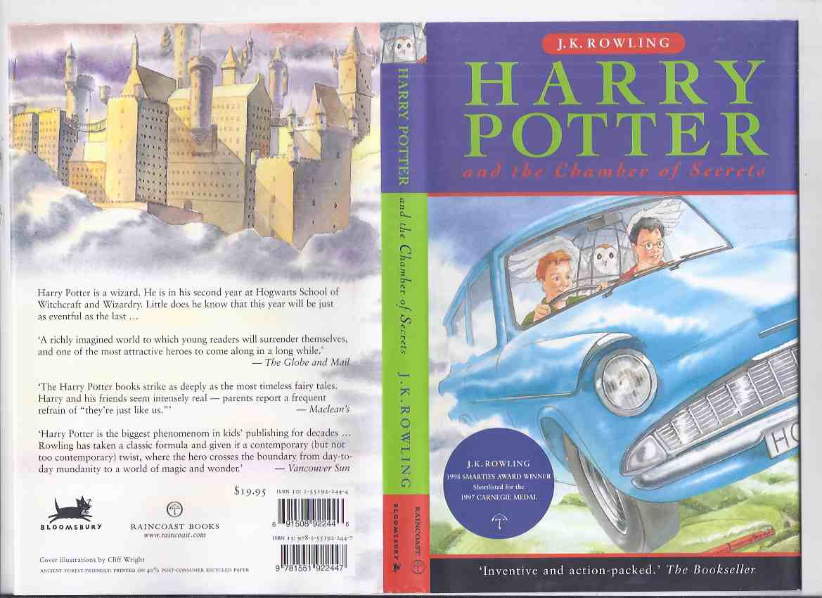 Image for Harry Potter and the Chamber of Secrets ---book 2 of the Harry Potter Series -by J K Rowling ( Volume Two )