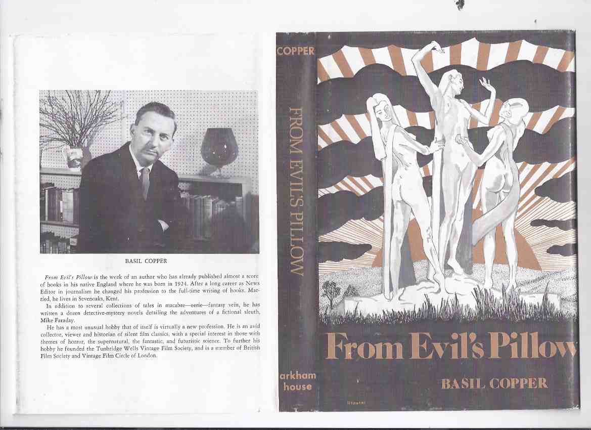 Image for From Evil's Pillow -by Basil Copper -a Signed Copy / ARKHAM HOUSE (includes:  Amber Print; The Grey House; The Gossips; A Very Pleasant Fellow; Charon )