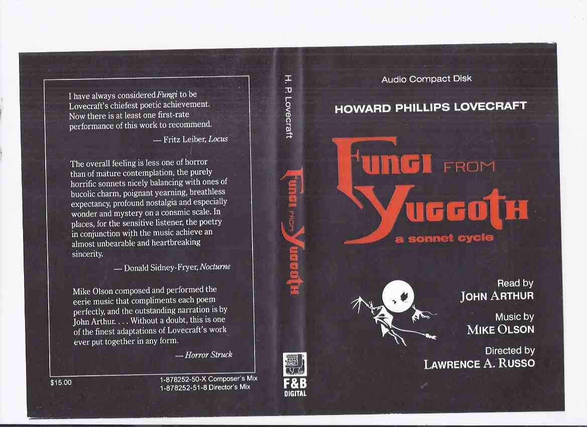 Image for Howard Phillips Lovecraft's Fungi from Yuggoth: A Sonnet Cycle -by H P Lovecraft ( Audio Compact Disk / CD ) / Fedogan & Bremer 2001 ( 1 of 30 copies )