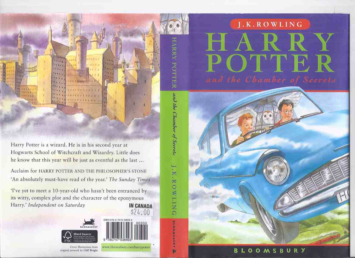 Image for Harry Potter and The Chamber of secrets -by J K Rowling ( Book 2 of the Series / Volume Two )