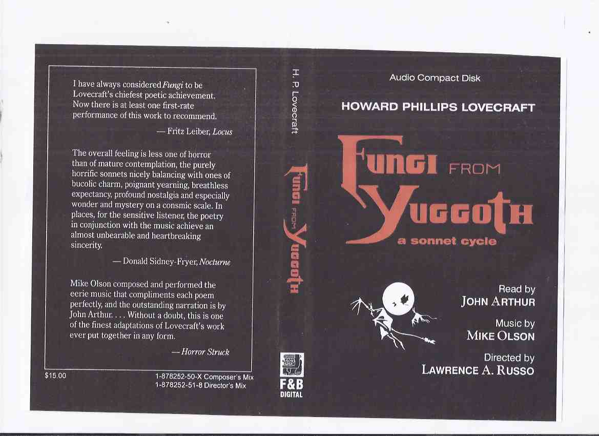 Image for Howard Phillips Lovecraft's Fungi from Yuggoth: A Sonnet Cycle -by H P Lovecraft ( Audio Compact Disk / CD ) / Fedogan & Bremer 2001