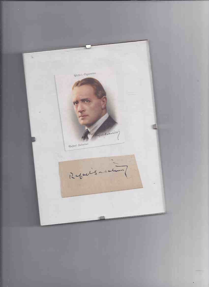 Image for Wills Cigarette Card - Famous British Authors Series - Rafael Sabatini (with Signed Slip )(by the Author of Scaramouche )
