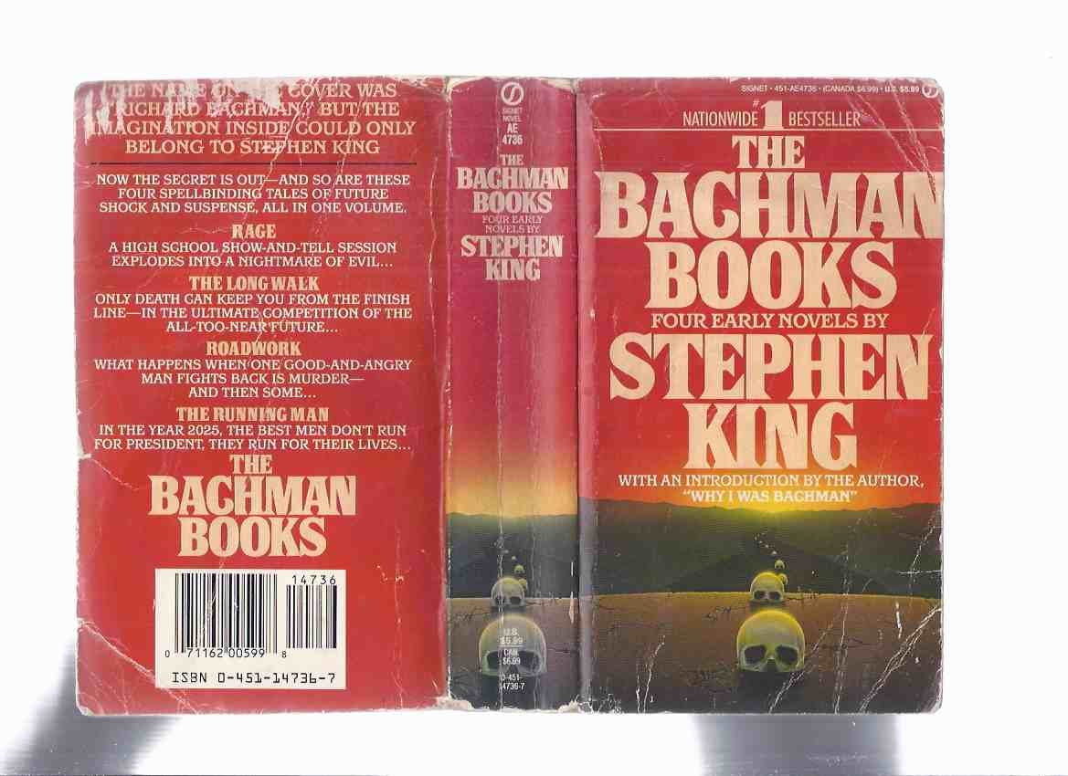 "Image for OMNIBUS EDITION collecting the first four Bachman titles: The Bachman Books:  Four Early Novels:  Rage; The Long Walk; Roadwork; The Running Man ---with an Introduction By Stephen King ""Why I was Bachman """