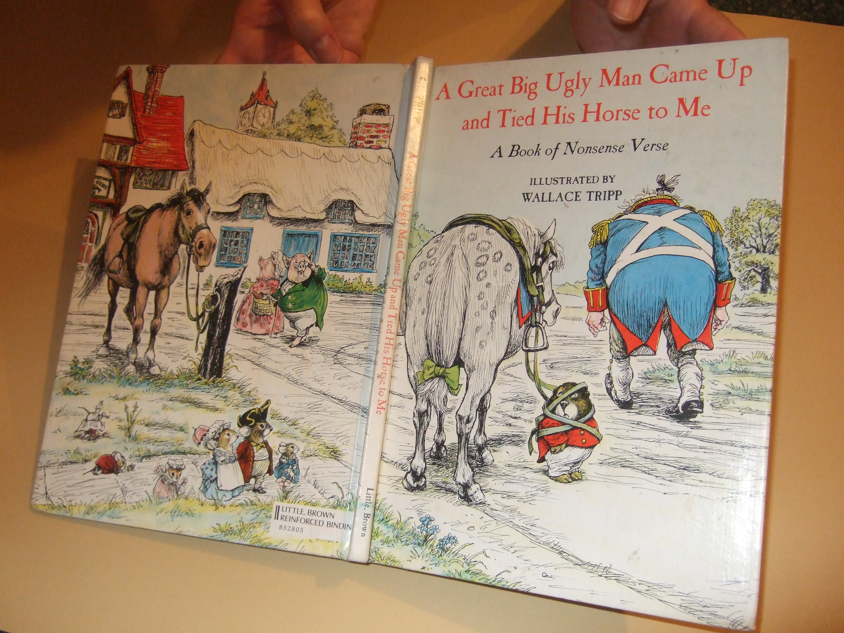 Image for A Great Big Ugly Man Came Up and Tied His Horse to Me:  A Book of Nonsense Verse  -by Wallace Tripp (includes the poem, NOT ME by Shel Silverstein )