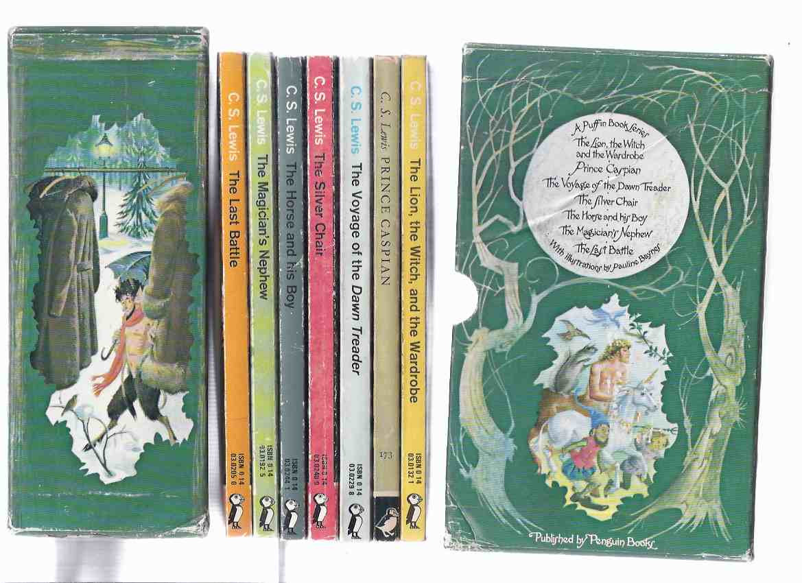 Image for 7 Volumes in Slipcase / Box: C S LEWIS - Narnia Chronicles: Lion, The Witch and the Wardrobe -with Prince Caspian -with Voyage of the Dawn Treader -with Silver Chair -with The Horse & His Boy -with Magician's Nephew & Last Battle -by C S Lewis