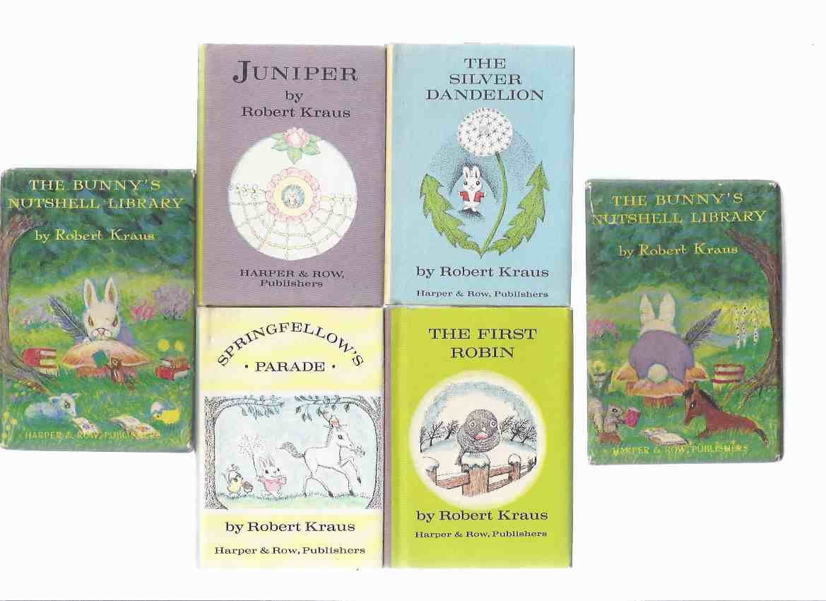 Image for The Bunny's NutShell Library By Robert Kraus (contains: Juniper; The Silver Dandelion; The First Robin; Springfellow's Parade )( 4 Miniature Volumes in a Slipcase )